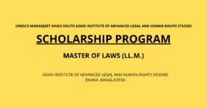 UNESCO Madanjeet Singh South Asian Institute of Advanced Legal and Human Rights Studies