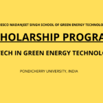 SAF SCHOLARSHIP FOR M.TECH GREEN ENERGY TECHNOLOGY
